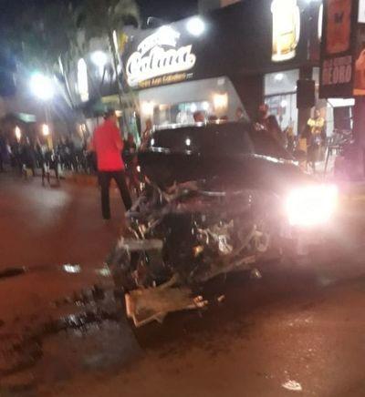 Dos heridos y un bombero golpeado tras dos accidentes en Pedro Juan Caballero