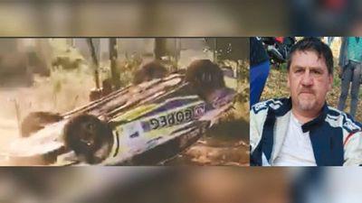 """Senador Llano se """"tragó"""" una curva en su autazo, volcó y asustó al rollo"""