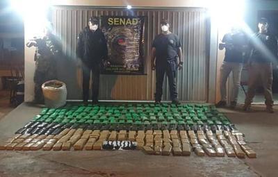 Canindeyú: hallan más de 200 kilos de droga en un puerto clandestino