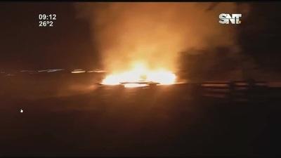 Se controló el incendio de gran magnitud registrado en Minga Guazú