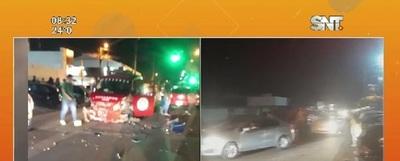 Un grave accidente de tránsito se registró en Pedro Juan Caballero