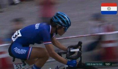 Agua Marina Espínola registra el ciclismo paraguayo en unos Juegos Olímpicos