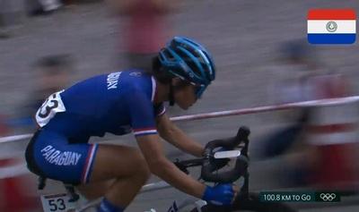 Agua Marina Espínola, la primera ciclista paraguaya en Olimpiadas