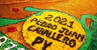 La Nación / Alfombristas de Pedro Juan Caballero participaron del homenaje mundial al Xacobeo