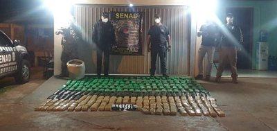 Descubren puerto clandestino con más de 200 kilos de marihuana en Canindeyú