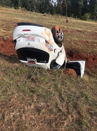Daños materiales y lesiones en accidente de tránsito en Misiones