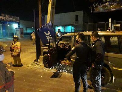 Un hombre con varias heridas en la cabeza es el saldo de un choque en Asunción