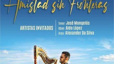 Esta noche se realiza el concierto de arpa Amistad sin fronteras