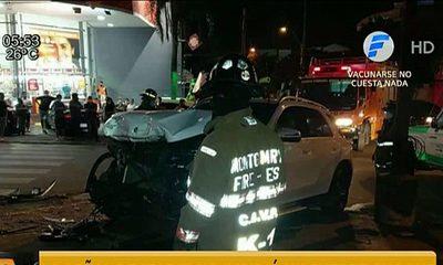 Señal de ''Pare'' no impidió accidente en Asunción