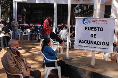Promedio de vacunación en el Alto Paraná es de 16,5%