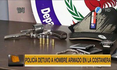Policía detuvo a joven armado en la Costanera de Asunción