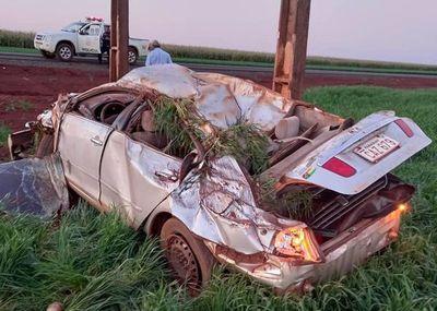 Accidente automovilístico deja un hombre lesionado