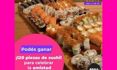 ¡Regalamos 120 piezas de sushi para compartir con tus amigos!