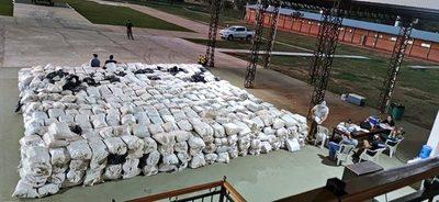 Concepción: Tras operativo incautan más de 35.000 kilos de marihuana