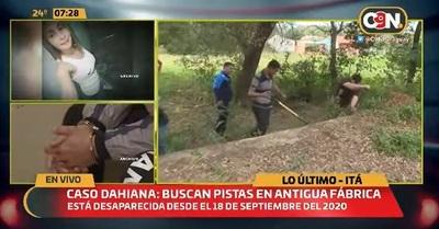 Verifican fábrica abandonada en busca de Dahiana Espinoza
