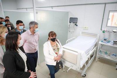 Mario Abdo inauguró pabellón de contingencia en Caazapá