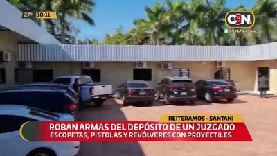 Roban armas del depósito de un juzgado en Santaní