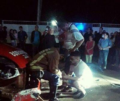 Abogado supuestamente golpeó a Bomberos luego de accidente de tránsito en Pedro Juan