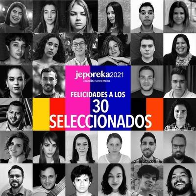 Jeporeka anuncia a los 30 jóvenes compositores, autores y cantantes que crearán nuevas canciones