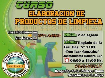 Curso sobre elaboración de productos de limpieza anuncia la Gobernación de Amambay