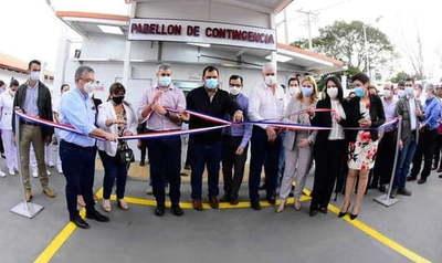 Inauguran pabellón de contingencia en Caazapá