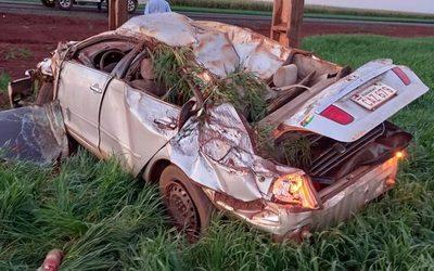 Un lesionado durante aparatoso accidente en Santa Fe