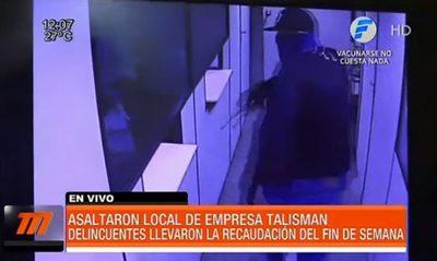 Asaltaron local de la empresa Talisman en Asunción