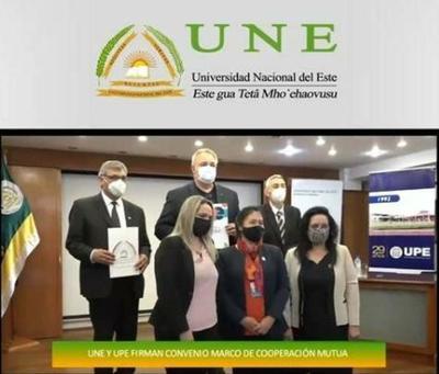 UNE y UPE firman convenio de cooperación