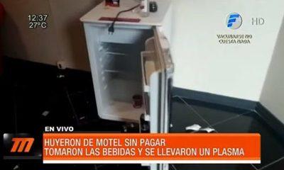 Huyeron de motel sin pagar y hasta robaron un plasma