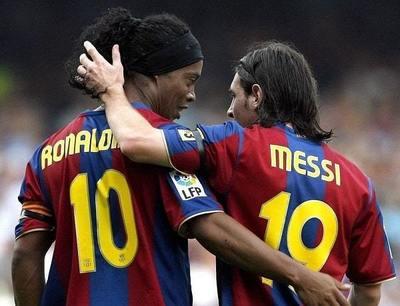 El consejo de Ronaldinho para Messi sobre el Barcelona