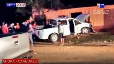 Varios heridos tras choque de una patrullera contra una vivienda
