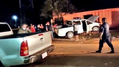 Varios heridos tras choque de una patrullera contra una vivienda en Yhú