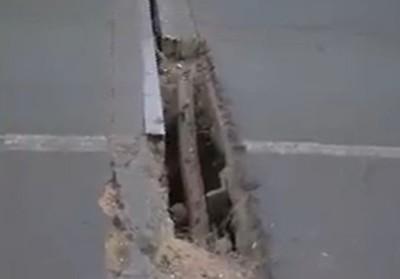 Ruta 3: Preocupante grieta en viaducto