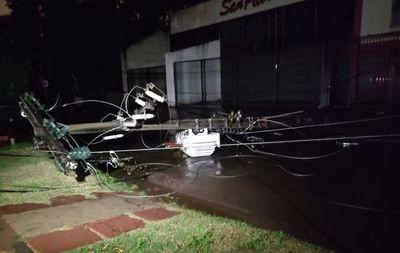 Caída de columna deja sin energía a gran parte del barrio San Pablo