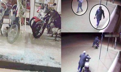 Dos ladrones rompen blindex de sucursal de Chacomer y roban dos motocicletas 0 Km – Diario TNPRESS