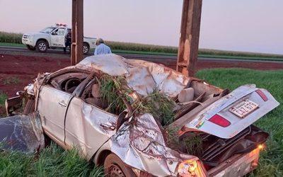 Violentísimo vuelco de automóvil deja un herido grave en la zona norte – Diario TNPRESS