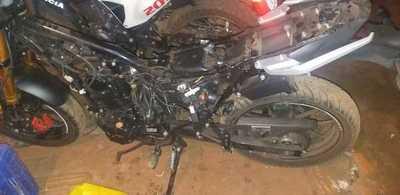 Recuperan mediante GPS motocicleta robada; estaba ya desarmada