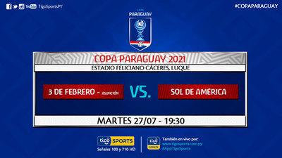 Sol de América protagoniza el segundo partido de la Copa de Todos