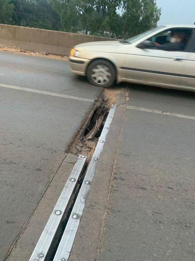 Grieta en viaducto de Limpio genera preocupación, MOPC ya alertó a constructora