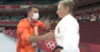 El violento trato de entrenador a judoca alemana en Tokio: la zamarreó y abofeteó para animarla