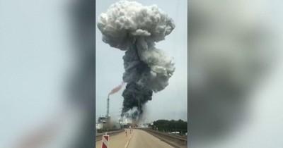 La Nación / Alemania: impactante explosión en planta de residuos deja un muerto