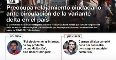La Nación / LN PM: Las noticias más relevantes de la siesta del 27 de julio