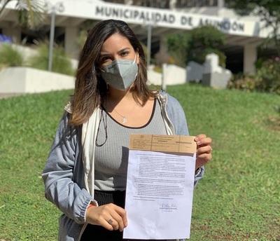Johanna Ortega mantiene su candidatura opositora independiente a intendencia de Asunción