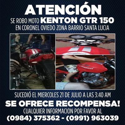 Denuncian robo de motocicleta en el barrio Santa Lucía – Prensa 5