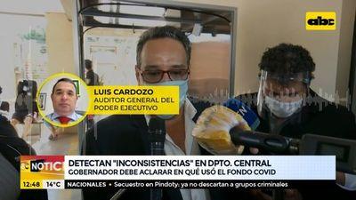 Detectan inconsistencias en uso de fondos covid en la Gobernación de Central