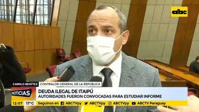 Congreso convoca a autoridades para estudiar informe de la deuda ilegal de Itaipú