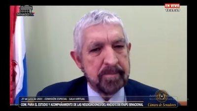 """""""Yo soy responsable del arreglo de la deuda de Itaipú"""", sostuvo """"Kencho"""" Rodríguez en el Congreso"""