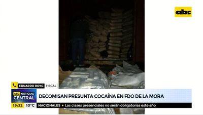 Decomisan presunta cocaína en Fernando de la Mora