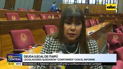 """Deuda ilegal de Itaipú: Legisladores quedaron """"conformes"""" con el informe"""
