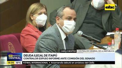 Deuda ilegal de Itaipú: Contralor expuso informe ante comisión del senado